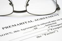 Premerital agreement Stock Photos