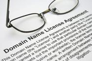 Stock Photo of domain name license agreement