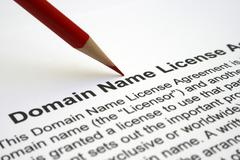Domain name license agreement Stock Photos