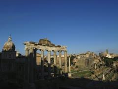 4K Time-Lapse Rome The Forum night dusk Stock Footage