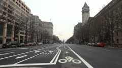 Long shot of US Capitol and Old Post Office Stock Footage