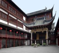 yuyuan garden in shanghai - stock photo