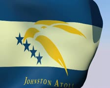 Flag of Johnston Atoll (unofficial) PAL Stock Footage