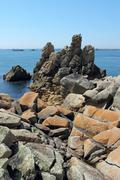 St. agnes and western rocks, isles of scilly, cornwall uk. Stock Photos