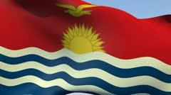 Stock Video Footage of Flag of Kiribati HD