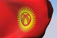 Stock Video Footage of Flag of Kyrgyzstan NTSC