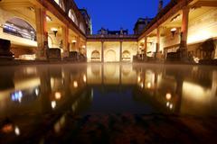 Roman baths Stock Photos