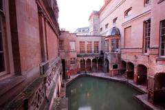 roman baths - stock photo