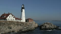 Portland Head Light Lighthouse, Maine Stock Footage