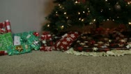 Stock Video Footage of Christmas presents under the tree 2