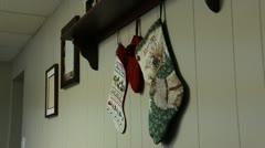 Christmas Stockings Stock Footage