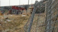 Graffiti Tunnel Fence - stock footage