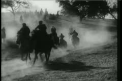 Native Americans on the warpath - stock footage