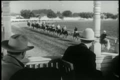 Start of horse race Stock Footage