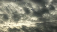 Stormy gray Clouds Stock Footage