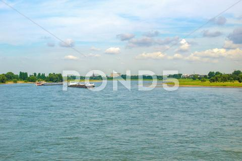 Stock photo of river rhein