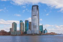 goldman sachs tower, jersey city in new jersey. - stock photo