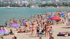 Gelendzhik city beach Stock Footage