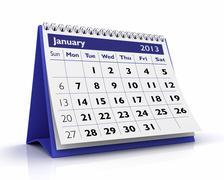 January 2013 calendar Stock Illustration