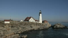 Portland Head Light Lighthouse, Maine - 3 Stock Footage