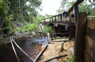 River bath - amapa, brazil Stock Photos