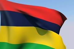 Flag of Mauritius NTSC Stock Footage