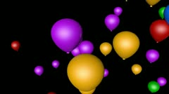 spinning balloon holidays with alpha - stock footage