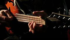 Crazy Tremolo Solo on Pear Body Mandolin HD Stock Footage