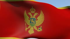 Flag of Montenegro HD - stock footage