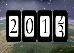2013 Odometer reading Stock Illustration