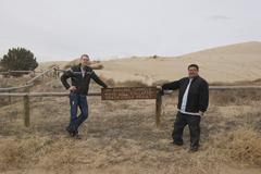 Sand Dunes and Two Guys.jpg - stock photo