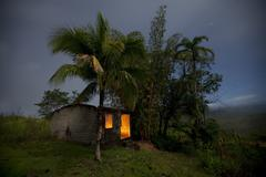 House on the Hill - Amapa, Brazil - stock photo