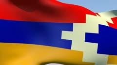 Stock Video Footage of Flag of Nagorno-Karabakh HD