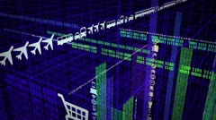 Collected Data City Stock Footage