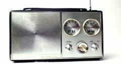vintage little radio - stock footage