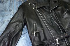studded jacket - stock photo