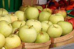 Apples at the market Stock Photos