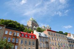 Glimpse of Quebec City, Canada Stock Photos