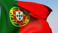 Flag of Portugal HD Stock Footage