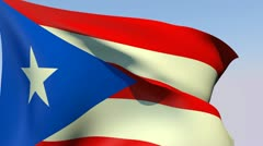 Flag of Puerto Rico HD Stock Footage