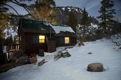Mountain cabin - mammoth, ca Stock Photos