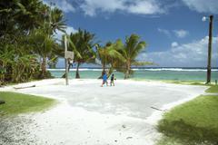 island life - kosrae, micronesia - stock photo