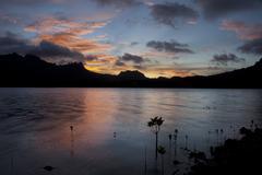 island of the sleeping lady - kosrae, micronesia - stock photo