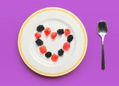 raspberry and blackberry - stock illustration