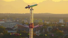 Oktoberfest Germany Munich Beer Festival carousel Chairoplane - stock footage