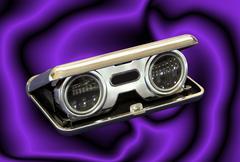 vintage opera binoculars - stock illustration