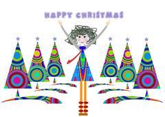 Christmas day - stock illustration