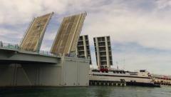 Drawbridge Time Lapse with ship close - stock footage
