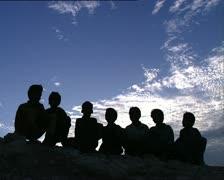 YEMEN children singing Stock Footage