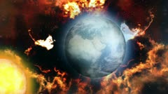 Space animation - Doomsday Stock Footage